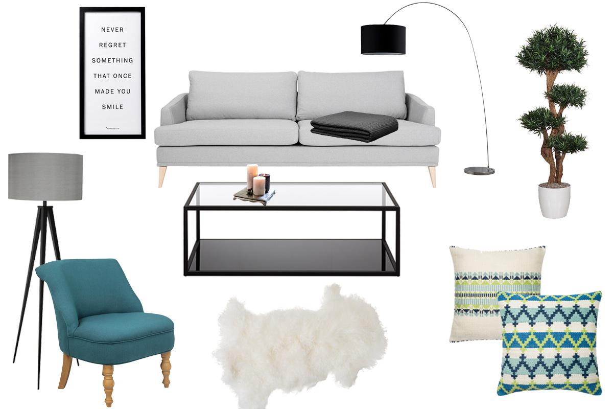 Bild Interieur Living & Wohnen, Inneneinrichtung, Grau, Weiß, Schwarz, Minimaoistischer Stil