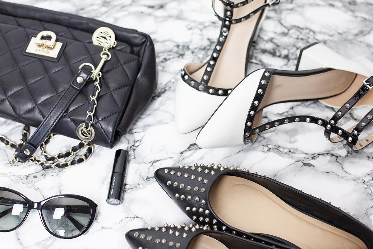 Bild Asus Schuhe, Valentino Rockstudd Lookalike, Nietenballerinas, DKNY Tasche, Fashionblog, Hannover, Shades of Ivory